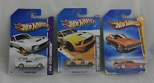 3 Fords or Shelby's - Hot Wheels - 2 Shelby's & 1 - 1969 Mercury Cougar Diecast