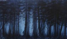 "Zach Kintner ""Slenderman"" Original Painting, Acrylic, 2014, signed"