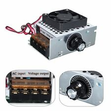 0-220V 4000W SCR Voltage Regulator Dimmer Motor Speed Controller Fan Thermostat