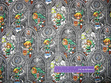 THE LEGEND OF ZELDA Video Game Sword Powers Link Cotton Fabric BY THE HALF YARD