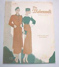 Die Modenwelt Heft 17 / 1933 mit Schnittmusterbogen Modezeitschrift Handarbeit !