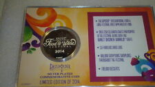 Disney 2014 Epcot International Food & Wine Passholder Silver plated coin LE2014