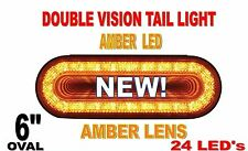 "24 LED 6"" OVAL ""MIRAGE"" STOP,TURN & TAIL LIGHT - AMBER/AMBER"