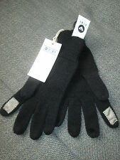 ROXY Ladies Knitted BLACK Winter Gloves With Touch Pad Fingers Mobiles One Size