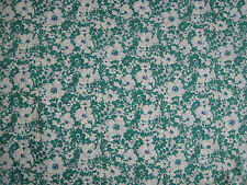 "LIBERTY OF LONDON TANA LAWN FABRIC DESIGN ""Jody C"" 2.5 METRES (250 CM) GREEN"