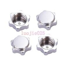 4PCS Silver 17mm HEX Nuts Cover Wheel Hub For HSP RC 1:8 Model Car Tires Tyres