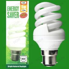 4x 5W =25W Daylight Quick Start Low Energy CFL SAD 5600K White Light Bulb BC B22