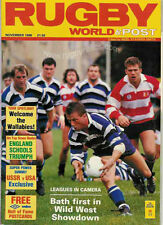 RUGBY WORLD MAGAZINE NOVEMBER 1988 - PERFECT GIFT FOR A FAN BORN IN THIS MONTH