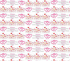 Personalised Gift Wrapping Paper Valentines Day 2017