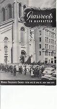 Grassroots in Manhattan Marble Collegiate Church NYC Norman Vincent Peale 1959