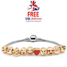 Emoji Charm Bracelet 10 Bead 18k Gold Plated Great Gift Idea! *SALE PRICE*
