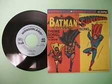 BATMAN, SUPERMAN, WONDERLAND RECORDS, 45 RPM, 1966, THEME SONG FROM TV SHOW