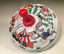German Tin Spinning Toy Top 1992 Warner Bros. Looney Tunes Circus Carnival Theme