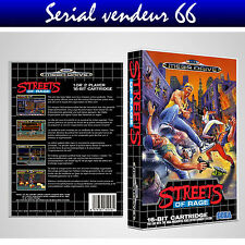 "BOX, CASE ""STREETS OF RAGE"". MEGADRIVE. BOX + COVER PRINTED.NO GAME.MULTILINGUAL"