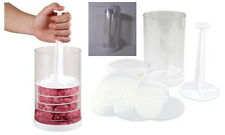 Mini Hamburger Press 8 Dividers Freezer Burger Patties Barbeque Sliders 7x2.5""