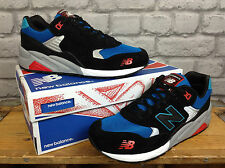 NEW BALANCE UK 7 580 ELITE EDITION PINBALL BLACK BLUE RED TRAINERS RRP £85