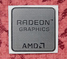 AMD Radeon Graphics Silver Chrome Sticker 17.5 x 17.5mm Case Badge USA Seller