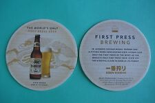 Beer Coaster ~ KIRIN Ichiban ~ The World's only First Press Beer ~ JAPAN Brewery