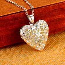 unique gifts for teen girls Heart Locket 925 Sterling Silver Chain Pendant