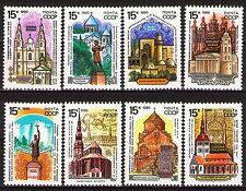 Russia 1990 Sc5912-19  Mi6108-15  8v  mnh  Historic Architecture-Religion