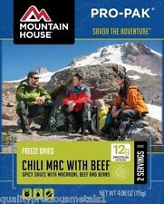 1 - Mountain House Freeze Dried Food Pouch - Chili Mac with Beef - Pro-Pak