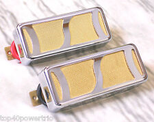 "Gold Foil ""S"" Pickup Set De one you need armond / Silvertone - Harmony - Kay NEW"