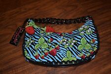 G2- Betseyville by Betsey Johnson Strawberry Fields Zebra Print Shoulder Bag