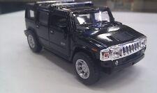 2008 Hummer H2 4X4 noir kinsmart Jouet miniature 1/40 echelle Voiture cadeau