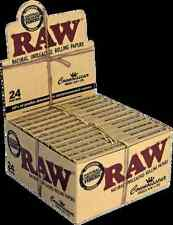 Full Box (24x) Raw Classic Connoisseur King Size Rolling Papers With Filter Tips