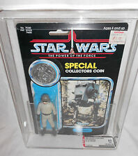 VINTAGE STAR WARS POTF AT-ST DRIVER 92 BACK CLEAR AFA 80 80/80/85 KENNER 1985