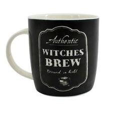 WITCHES BREW BREWED IN HELL - Boxed Bone China Mug Halloween Gothic Novelty Gift