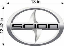 SCION Emblem Toyota SILVER Logo vinyl vheicle decal and window sticker graphics