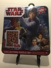 Used Star Wars 500 Piece Collectors Foil Puzzle in Tin, Unopened Poster Puzzle
