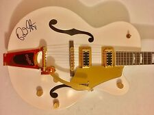 Brian Setzer Signed Autographed Stray Cats White Thunder Guitar Rare Gretsch