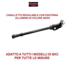 CAVALLETTO REGOLABILE IN ALLUMINIO NERO C/PI PER BICI 20/24/26 MTB MOUNTAIN BIKE