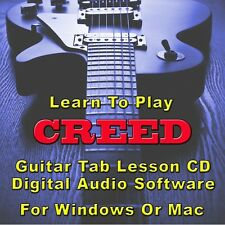 CREED Guitar Tab Lesson CD Software - 44 Songs