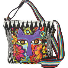 Laurel Burch Blossoming Feline Crossbody - Multi Cross-Body Bag NEW