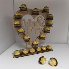 Amazing heart shape ferrero rocher stand wedding mr and mrs centrepiece