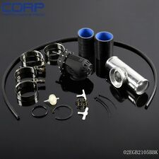 "SQV Blow Off Valve BOV IV 4  +2.5"" Flange Pipe  +Clamps kit black Silicone Hose"