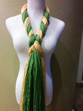 Green Bay Packers inspired Double Shimmer jewelry scarves! Green and Gold !!