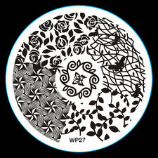 NEW Design DIY Nail Art Image Stamp Stamping Plates Manicure Template Tool WP-27
