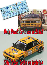 Decal 1:43 Salvador Servia - LANCIA DELTA - Rally El Corte Ingles 1988