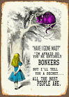 Alice In Wonderland we're all Bonker - Vintage Art Print Poster - A1 A2 A3 A4 A5