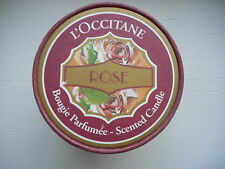 New Loccitane Rose Candle Glass Jar Bougie Parfumee France Valentine's Day Gift