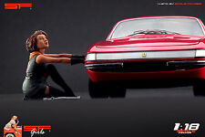 1/18 Changing wheel girl figure VERY RARE !! for1:18 CMC Autoart Ferrari BBR