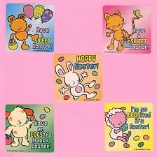 15 Easter Animals - Large Stickers - Party Favors - Dog, Cat, Sheep, Bear, Bunny