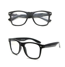 Retro Wayfarer Clear Nerd Geek Glasses Unisex Men Women Boy Girl Eyewear