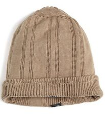 i.am Men's Knitted Beanie Hat Beige Size M/L