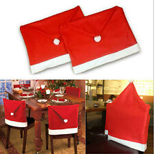 1pc Christmas  Santa Clause Hat Chair Back Cover Dinner Table Party Decoration