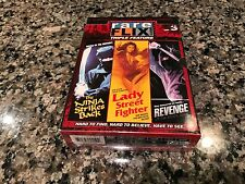 Rare Flix Triple Feature Vol. 3 New Sealed DVD! Code Red Lady Street Fighter!